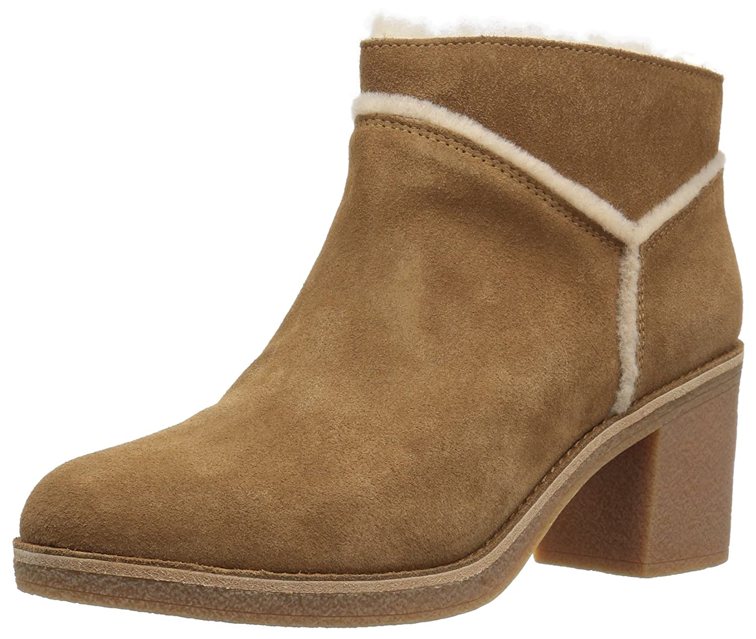 Ugg Women Heeled s Kasen Ankle Women s Suede Leather Heeled Ankle Boot In Chestnut Suede Noisette 1836181 - shopssong.space