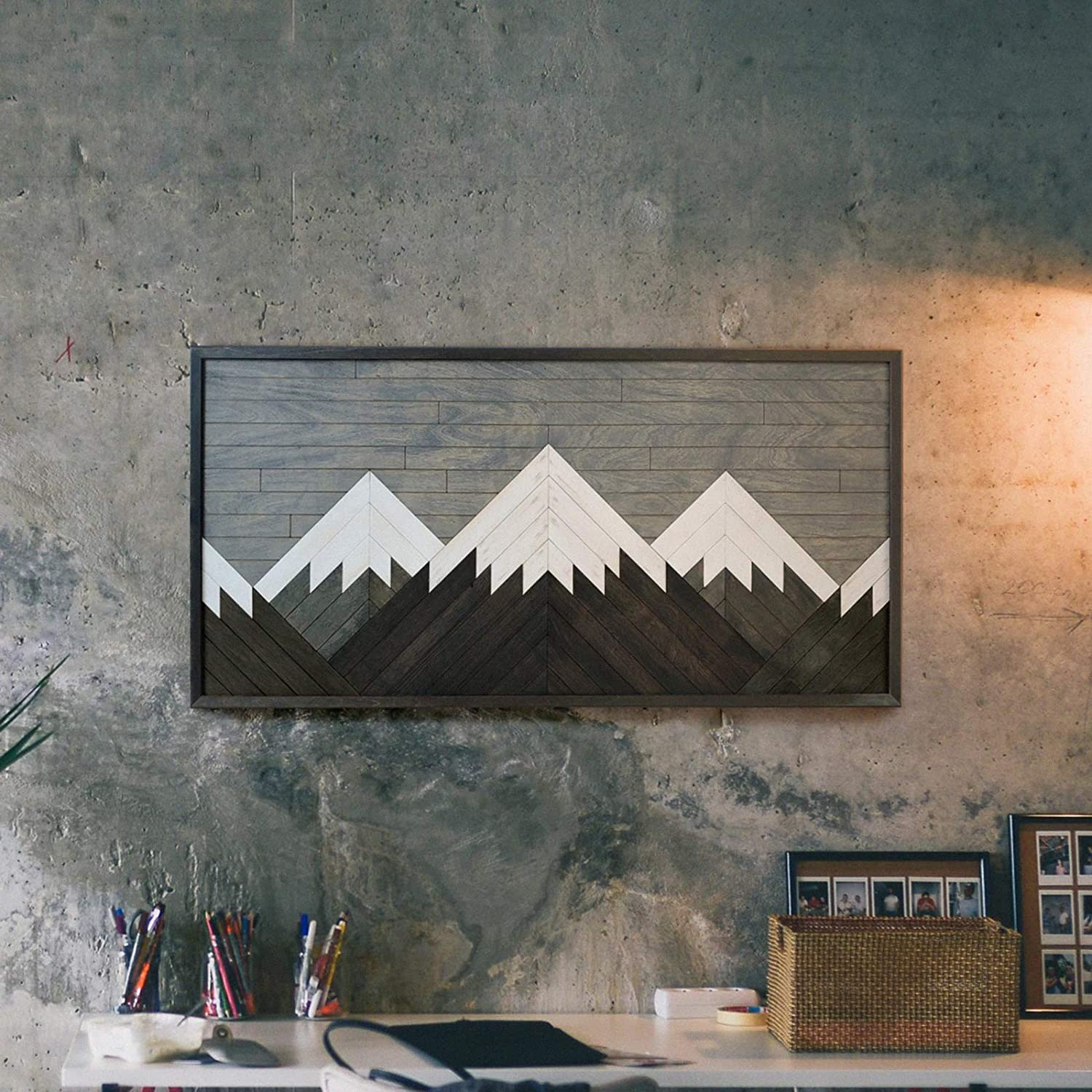 Other Furniture Mountain Wall Art for Living Room- Reclaimed Wood Panel Wall Art Blanca Peak