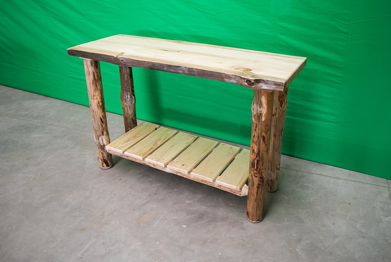 Amazon.com: Midwest Log Furniture - Rustic Log Sofa Table ...