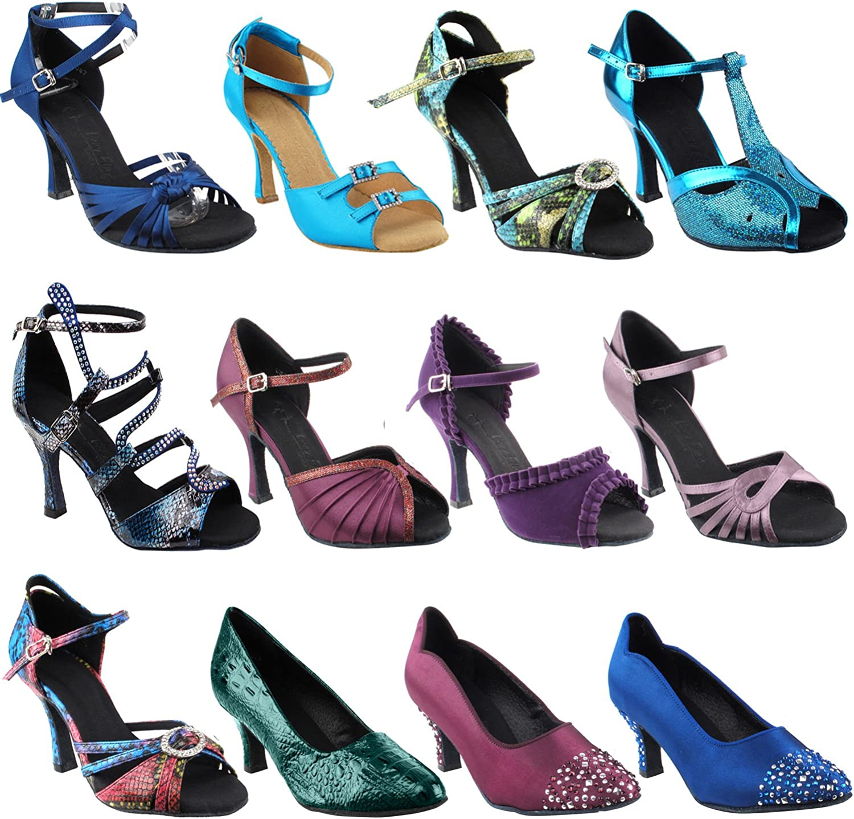 GP 50 ShadeS Wedding Dance Dress Shoes Size 5 3 Heel SERA1154 Pink Blue Snake