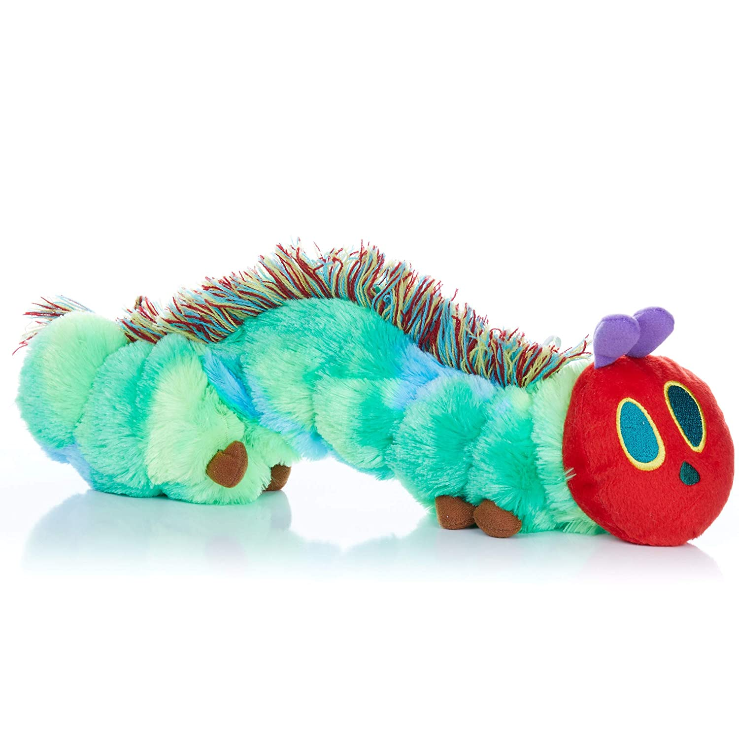 KIDS PREFERRED World of Eric Carle, The Very Hungry Caterpillar Butterfly Reversible Stuffed Animal Plush Toy, 13 Inches, Green, Approx 16