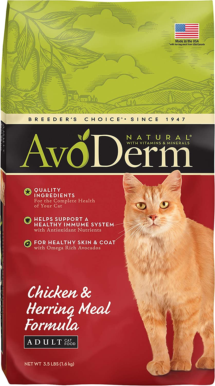 Avoderm Natural Chicken & Herring Meal Formula Dry Cat Food, 3.5-Pound