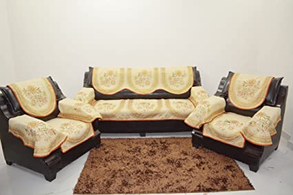 Kingly Golden Sofa Cover Set Of 6