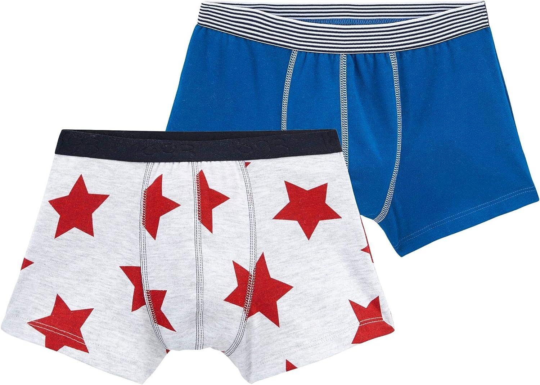 Petit Bateau Boys Boxer Shorts Pack of 2