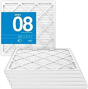 MervFilters 14x20x1 Air Filter, MERV 8, MPR 600, AC Furnace Air Filter, 6 Pack