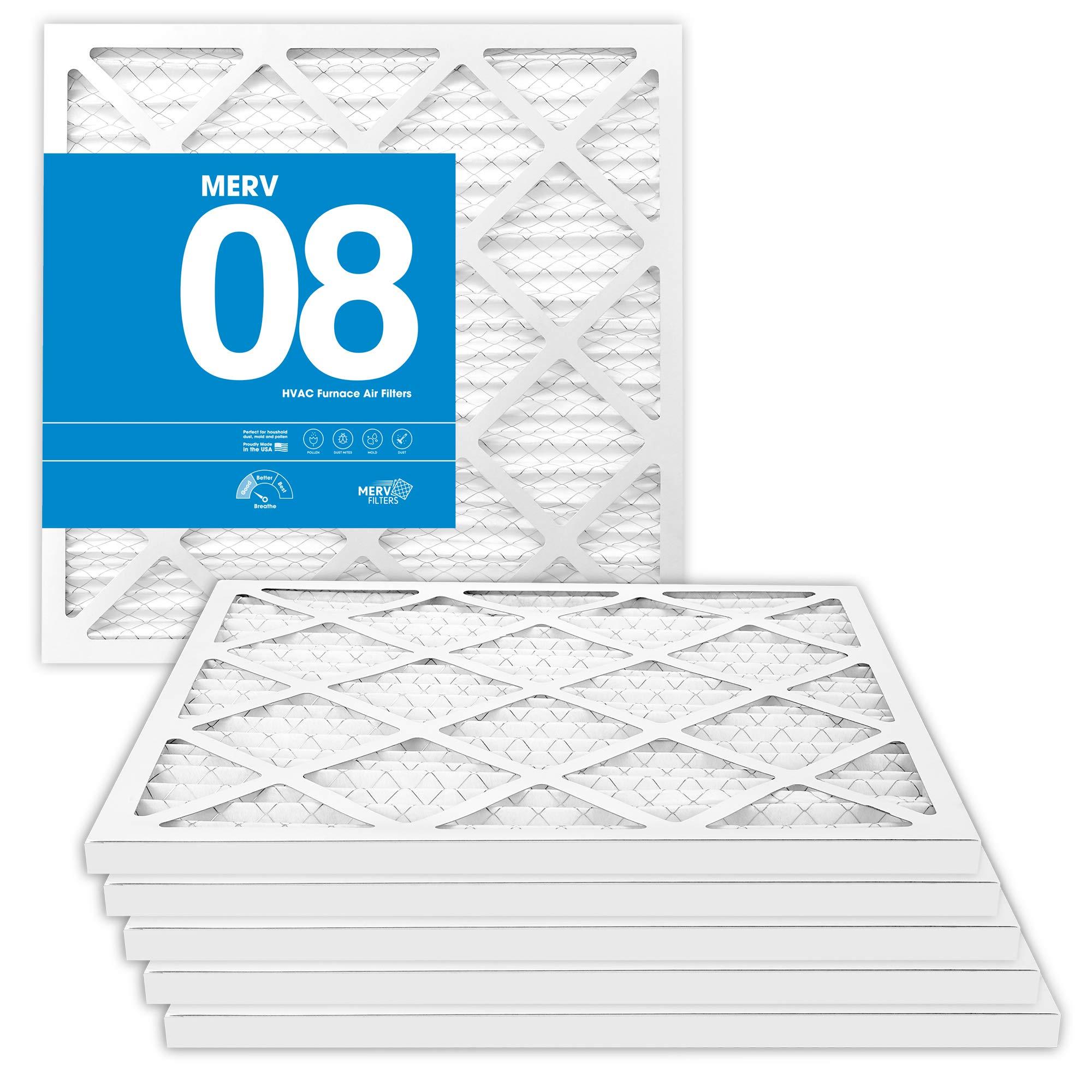 MervFilters 14x14x1 Air Filter, MERV 8, MPR 600-6 Pack of AC Furnace Air Filters by MervFilters