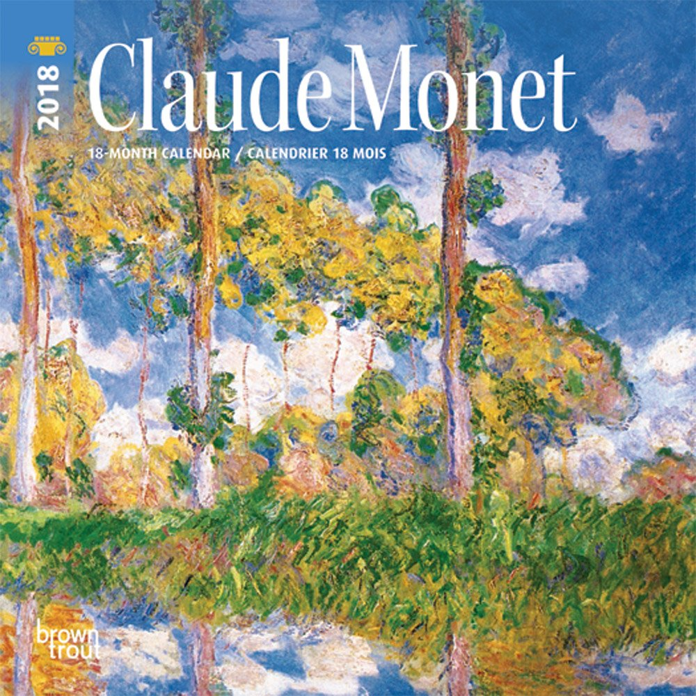 monet claude 2018 7 x 7 inch monthly mini wall calendar impressionist art artist bilingual english and french language