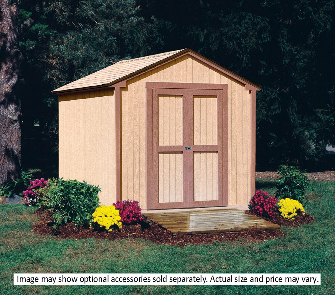 amazoncom handy home products kingston shed kit 8 by 8 feet garden outdoor - Garden Shed Kits