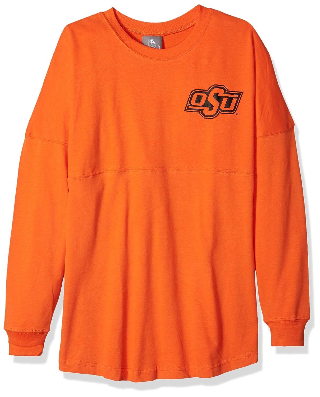 NCAA Oklahoma State Cowboys Womens NCAA Womens Long Sleeve Mascot Style Teeknights Apparel NCAA Womens Long Sleeve Mascot Style Tee Knights Orange X-Large