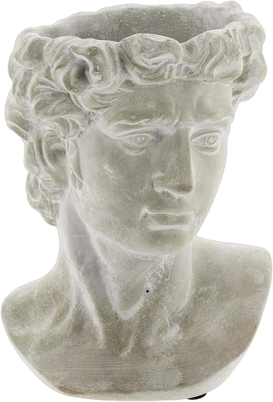 Lucky Winner Greek Statue Head Cement Planter 9