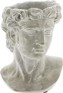 "Greek Statue Head Cement Planter (9"")"