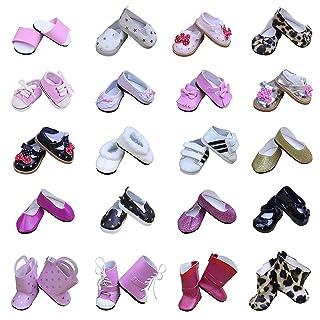 ZITA ELEMET Scarpe da bambola - Lot 5 Vari scarpe Party Party si adatta a American Girl Doll e ad altre bambole da 18 pollici ZITA ELEMENT