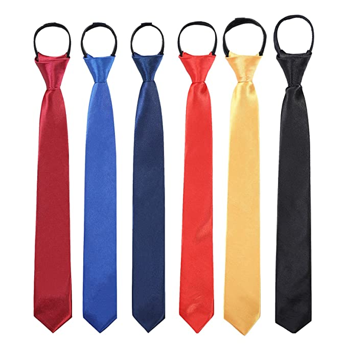 """BOYS CHILDRENS 45/"""" LONG SATIN LOOK TIES TIE LOTS OF COLOURS MADE IN UK"""