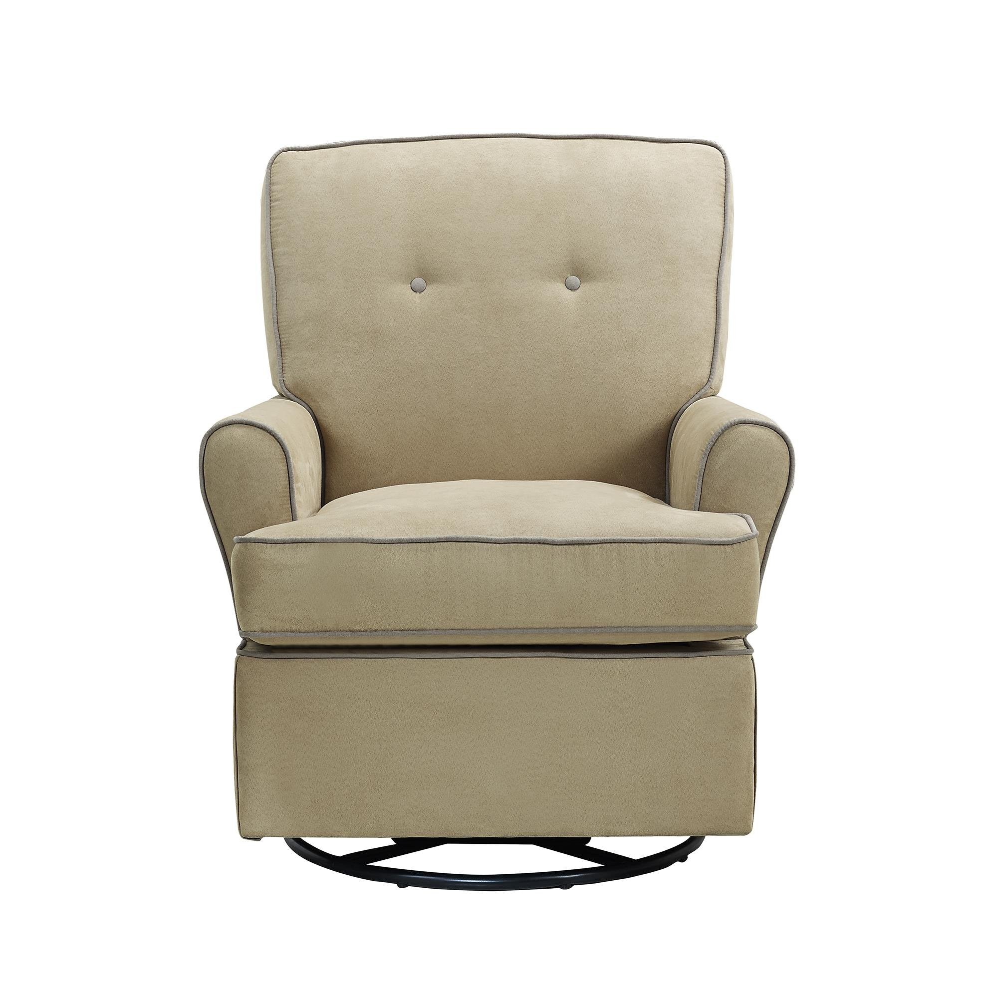Baby Relax The Tinsley Nursery Swivel Glider Chair, Beige by Baby Relax