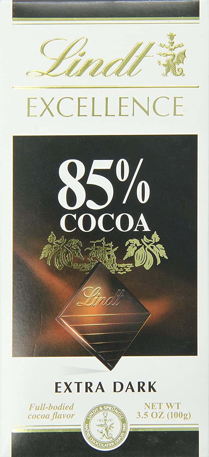 Amazon.com : Lindt Excellence Extra Dark Chocolate 85% Cocoa, 3.5 ...