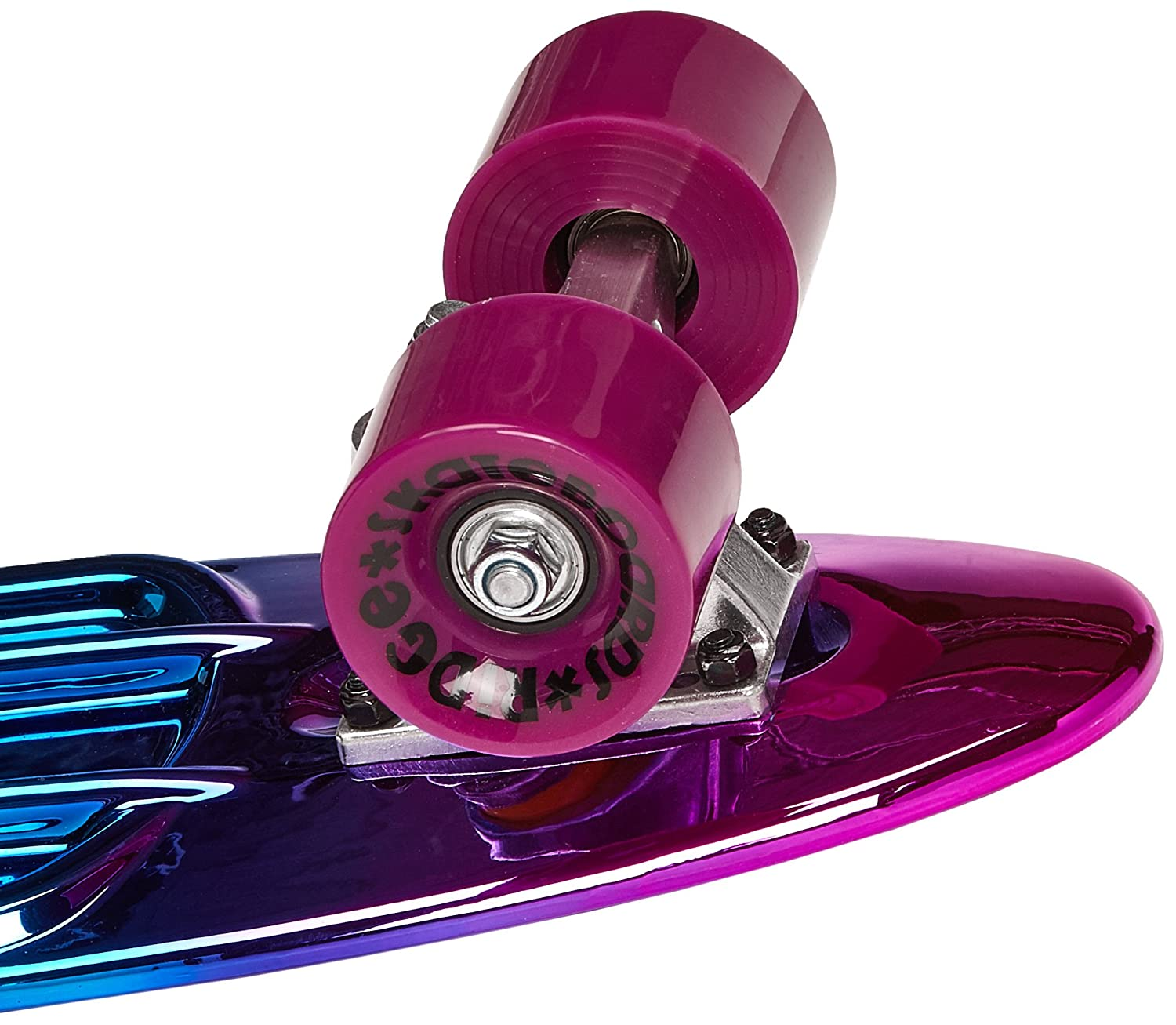 Ridge Neochrome Range Mini Cruiser Skateboard front rollen