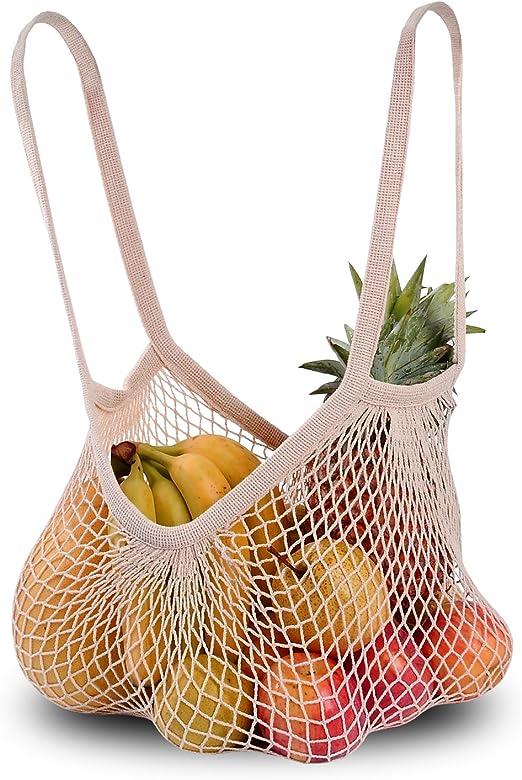 DimiDay - Bolsa de algodón para compras (correa larga, color ...