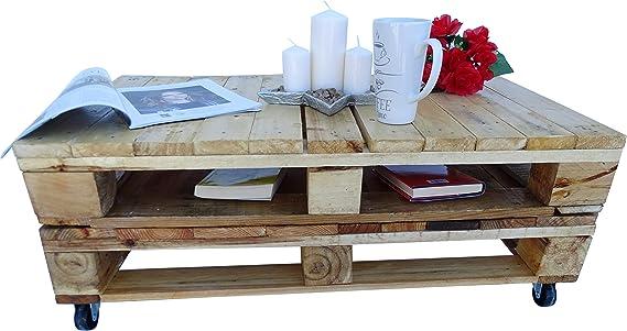 Mesa de Madera de Palet Estilo Rustico para Jardin & Terraza Tomar Cafe, Soporte de TV, Escritorio, Muebles De Palets & Patio & Atico & Balon (Madera): Amazon.es: Hogar