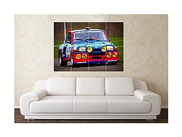 Tamaño grande Renault 5 GT Turbo de coche de carreras de pared diseño de
