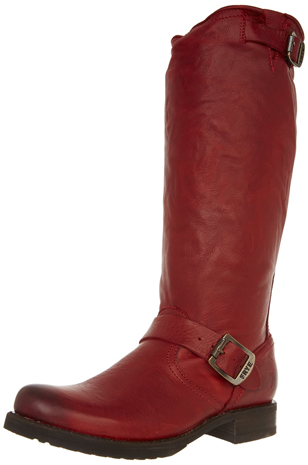 FRYE Women's Veronica Burnt Red Slouch Leather Boot