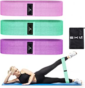 3 Set/ SUNFIRST Exercise Bands for Legs and Butt Non Slip Resistance Bands Elastic Strength Squat Loop Sliders Fitness Thigh Glute Bands Set for Women and Men Booty Workout Sports Yoga