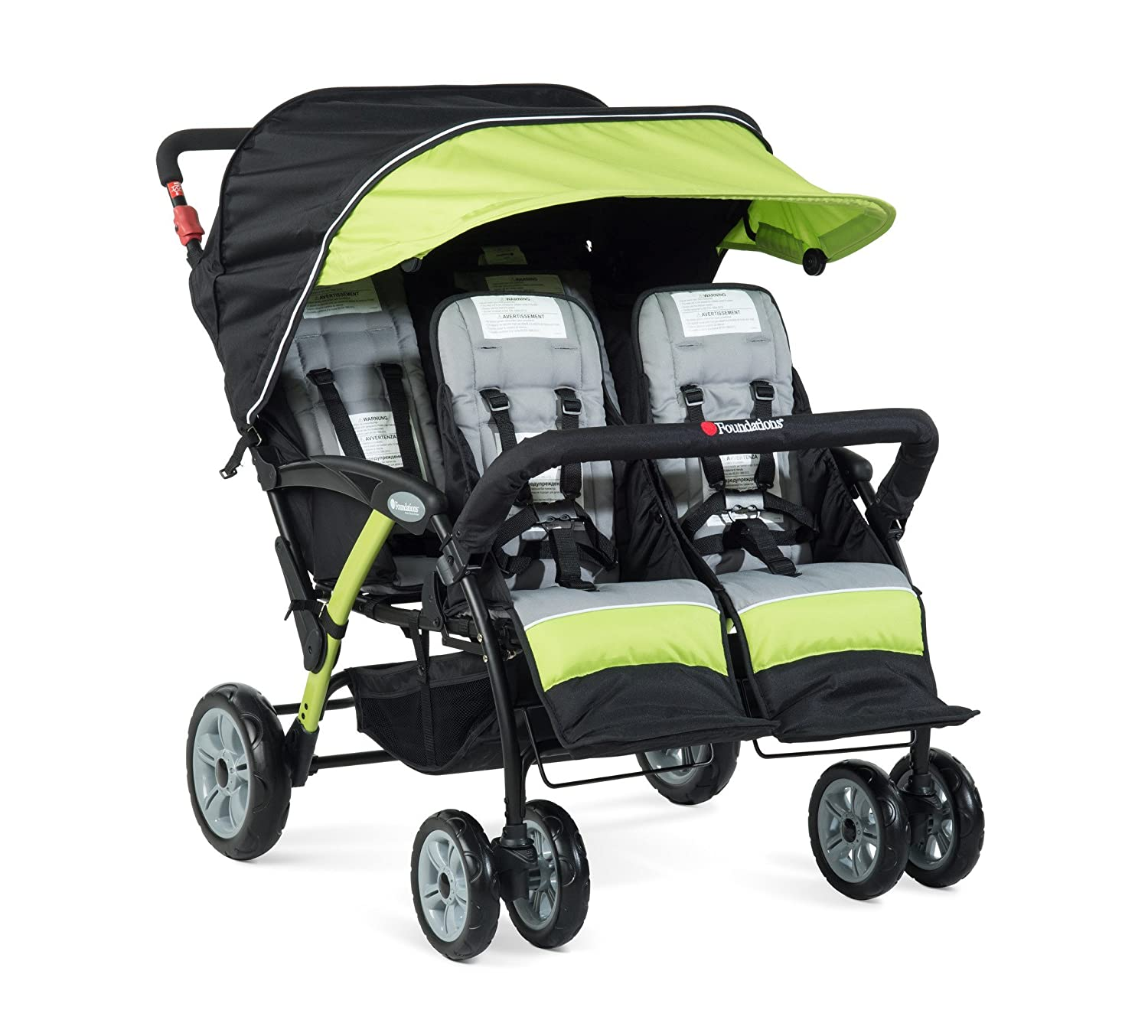 2020 Foundations The Quad Sport 4-Passenger Stroller, Lime 81NwHkBSaNL._SL1500_