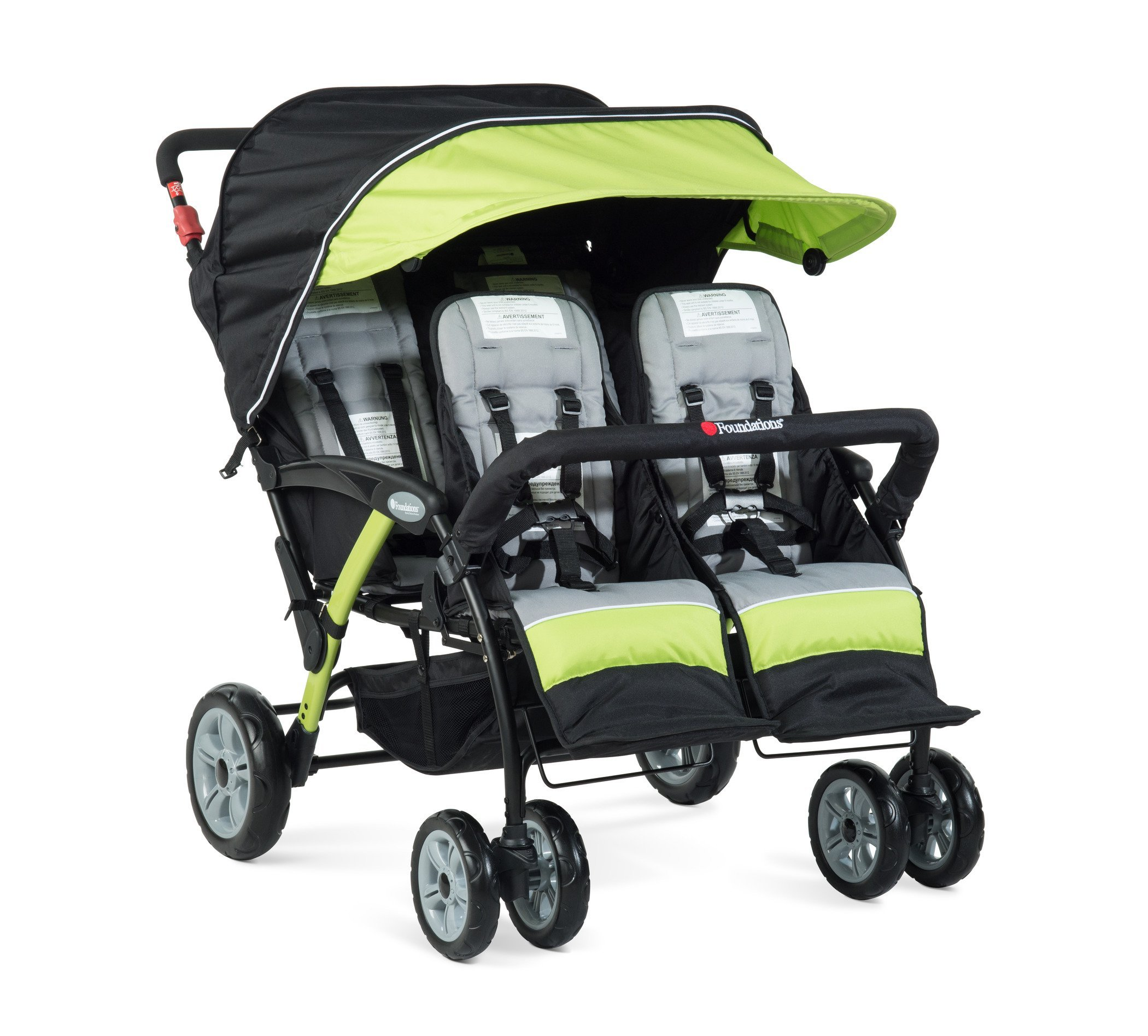 Foundations The Quad Sport 4-Passenger Stroller, Lime by Foundations