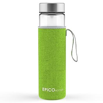 EPiCO BOTTLES Clásica 600 ml | Botella de Cristal | Botella de Vidrio Para Agua,