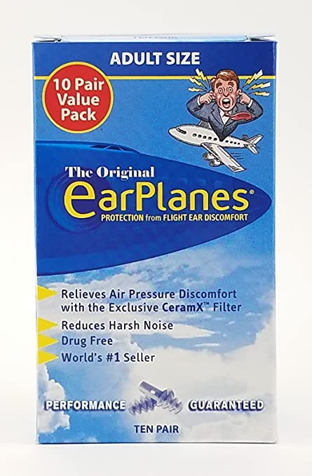 .com: earplanes ear plugs 1 pair ( pack of 3): health ...