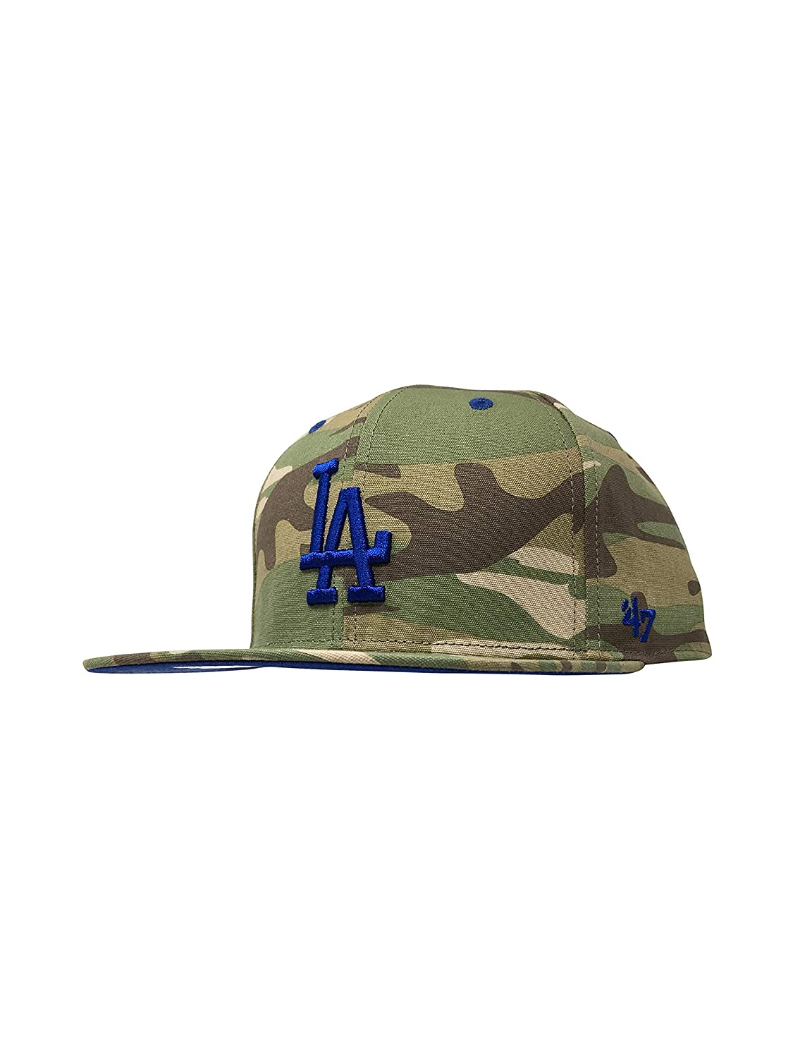 47 Los Angeles Dodgers Franchise One Size Hat MLB Flat Bill Cap Leather Strapback