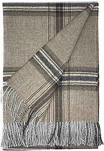 Alpaca Home   Tartan Plaid Alpaca Throw Blanket   100% Baby Alpaca Wool in Natural Shades   6.6 Feet Long X 4.25 Feet Wide   Hypoallergenic, Soft & Cozy (Toasty Plaid)