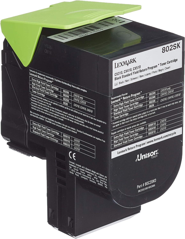 Lexmark 80c2sk0 Standard Capacity Toner Cartridge Schwarz Bürobedarf Schreibwaren