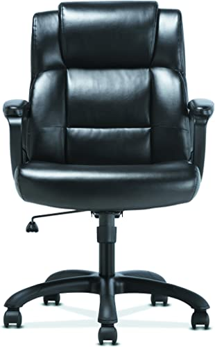 Sadie Leather Executive Computer Office Chair with Arms – Ergonomic Swivel Chair HVST305