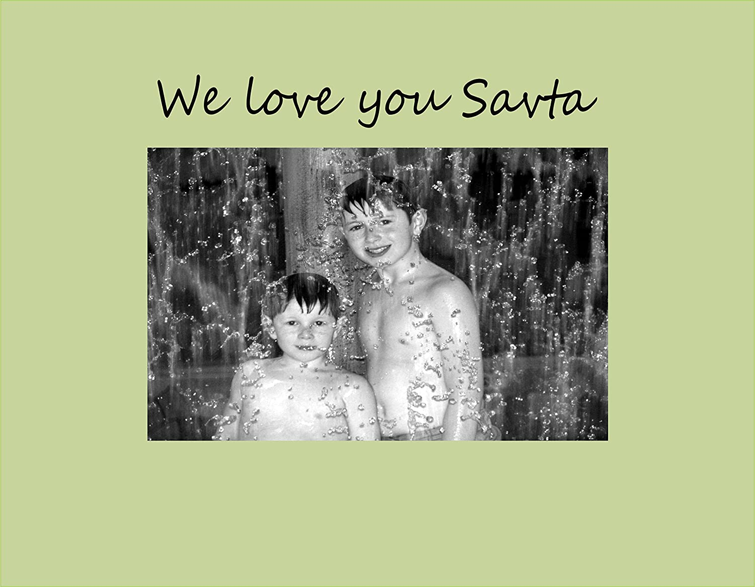 Small Infusion Gifts 9009-SO We Love You Savta Photo Frame Oyster