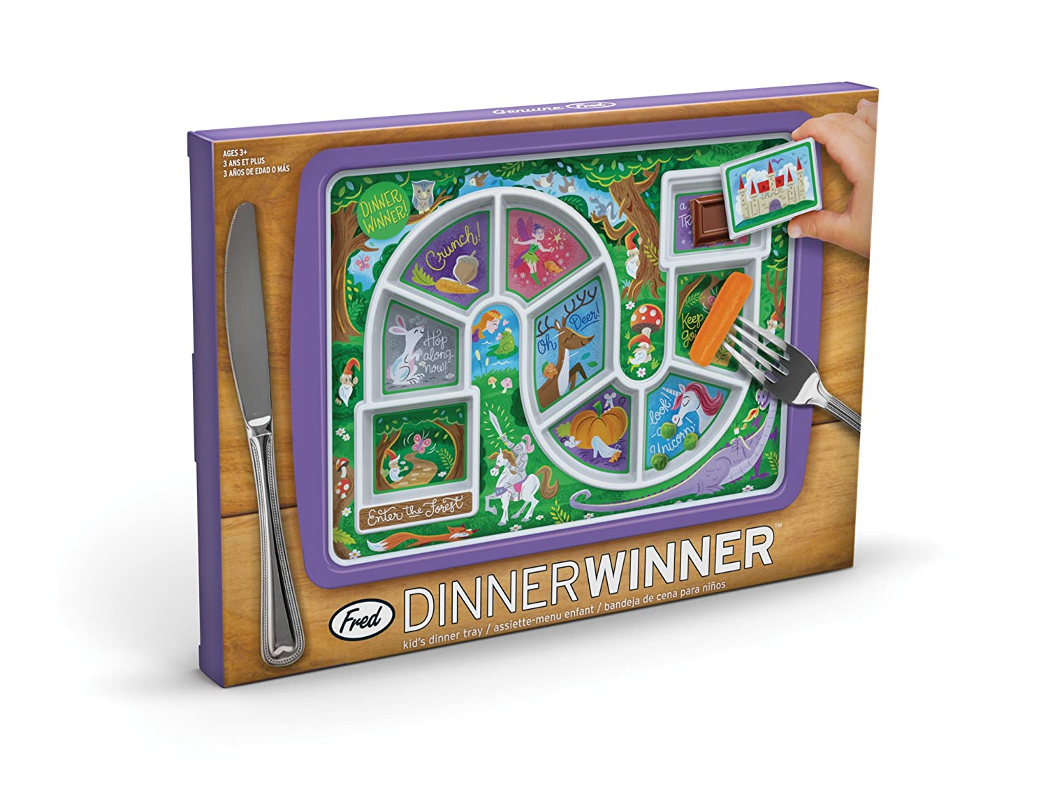 Amazon Com Fred Dinner Winner Kids Dinner Tray Enchanted Forest