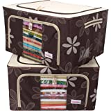 BlushBees Oxford Fabric 55 L Folding Storage Bag for Garments(Brown)
