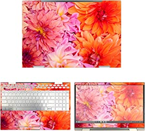 decalrus - Protective Decal Flower Skin Sticker for HP Envy X360 15M-CN0011DX (15.6