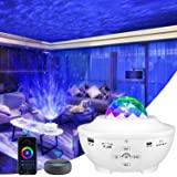 Star Projector, Smart Version 4 in 1 Ocean Wave Projector, Galaxy Projector with Bluetooth Music Speaker, Timer & Smart…