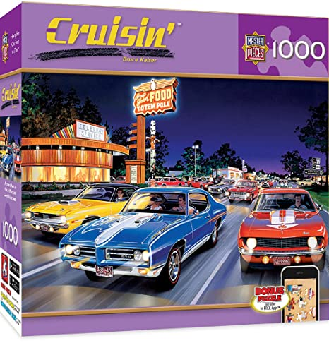 Amazon Com Masterpieces Cruisin Woodward Avenue Muscle Cars 1000