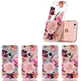 LUOLNH Slim Shockproof Clear Floral Pattern Soft