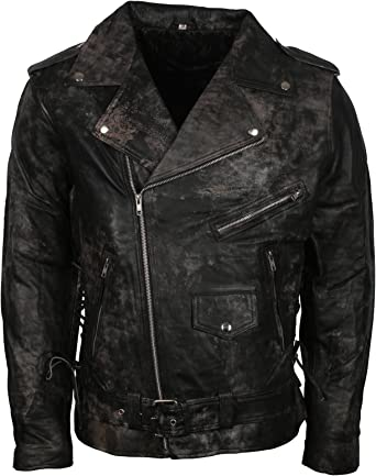 LeatherArtistics Waxed Brown Dark Stylish Smart Jacket In Real Leather