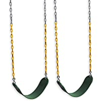 """Eastern Jungle Gym 2 Outdoor Swing Seats for Playset Replacement Swings with Coated Swing Chains 66"""""""