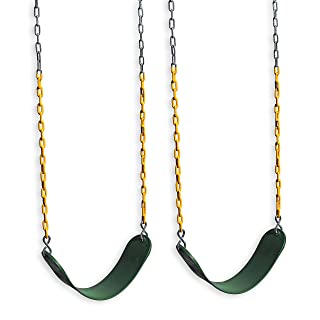 Eastern Jungle Gym 2 Outdoor Swing Seats for Playset Replacement Swings with Coated Swing Chains 66""