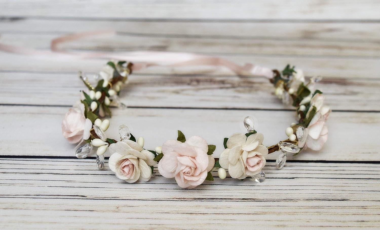 Lilac Satin Girls Hairband Headband Alice Band Ivory Bow Bridesmaid Flower Girl