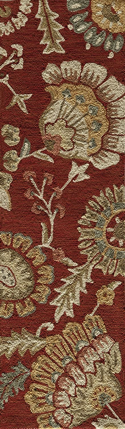 2 x 3 Hand Knotted Transitional Area Rug Momeni Rugs  Summit Collection Brick