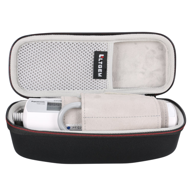 LTGEM Case for Panasonic EW3109W Portable Upper Arm Blood Pressure Monitor-Black