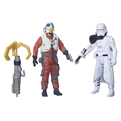 Star Wars: The Force Awakens 3.75 Inch 2 Pack Snap Wexley and First Order Snowtrooper Officer: Toys & Games