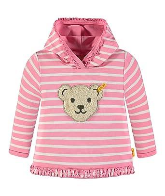Steiff Sweatshirt 1/1 Arm 6833153, Sudadera para Niñas, Rosa (Morning Glory