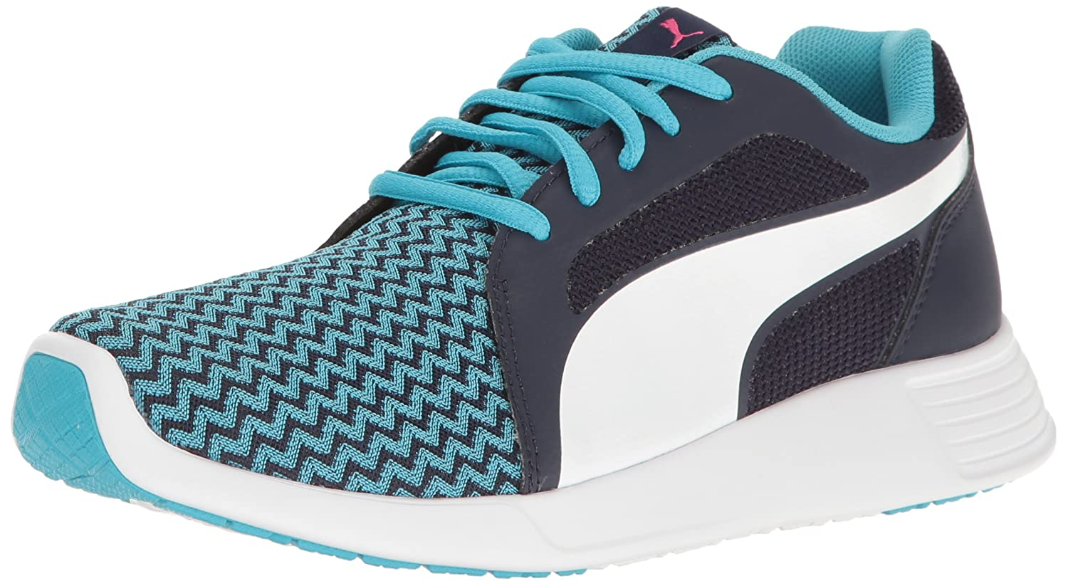 Puma Unisex-Kids St Trainer Evo Techtribe Turnschuhe, Blau Atoll Weiß, 5 M US Big Kid