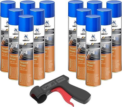Auprotec High Tech Spezialreiniger Terpanol Power Spray 12x 400ml 1x Original Pistolengriff Auto